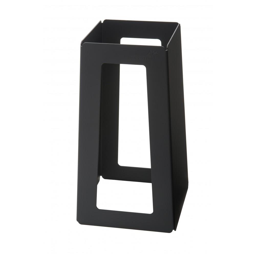 "Rosseto SM176 Black Matte Finish Steel Pyramid Riser- 5"" x 5"" x 10""H"