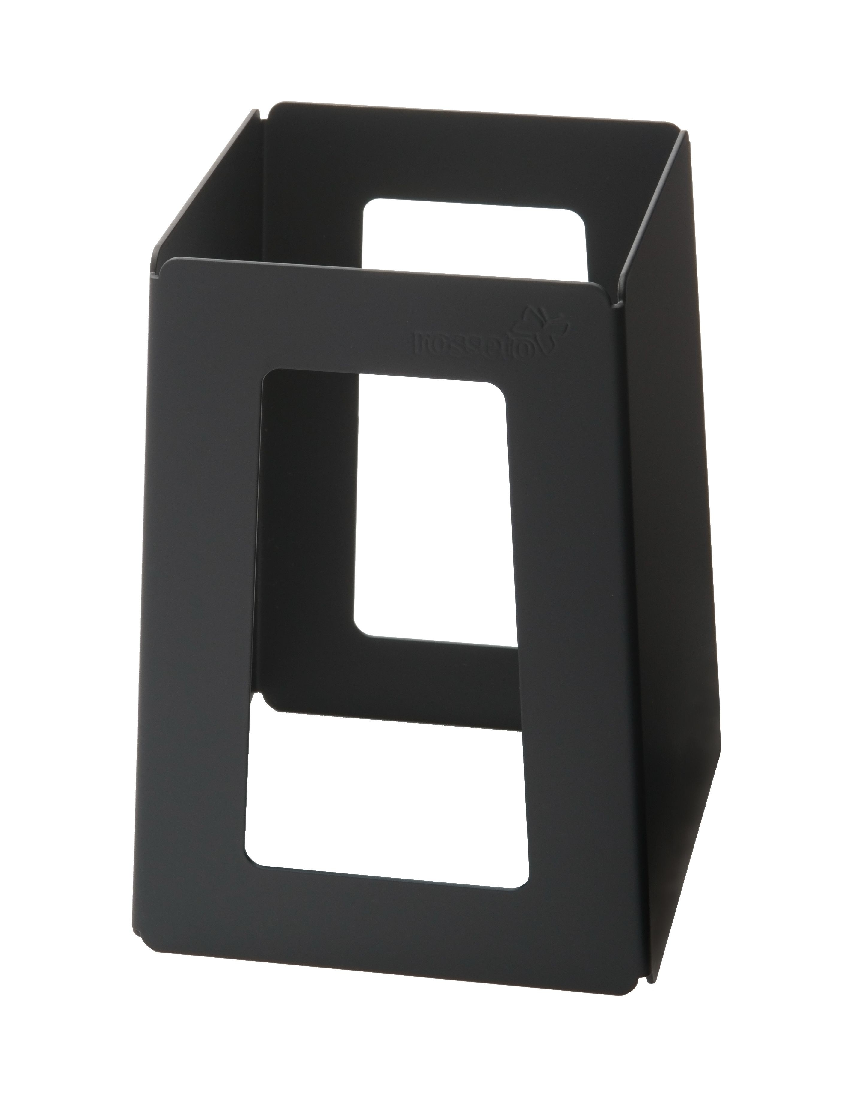 "Rosseto SM175 Black Matte Finish Steel Pyramid Riser 5"" x 5"" x 7""H"