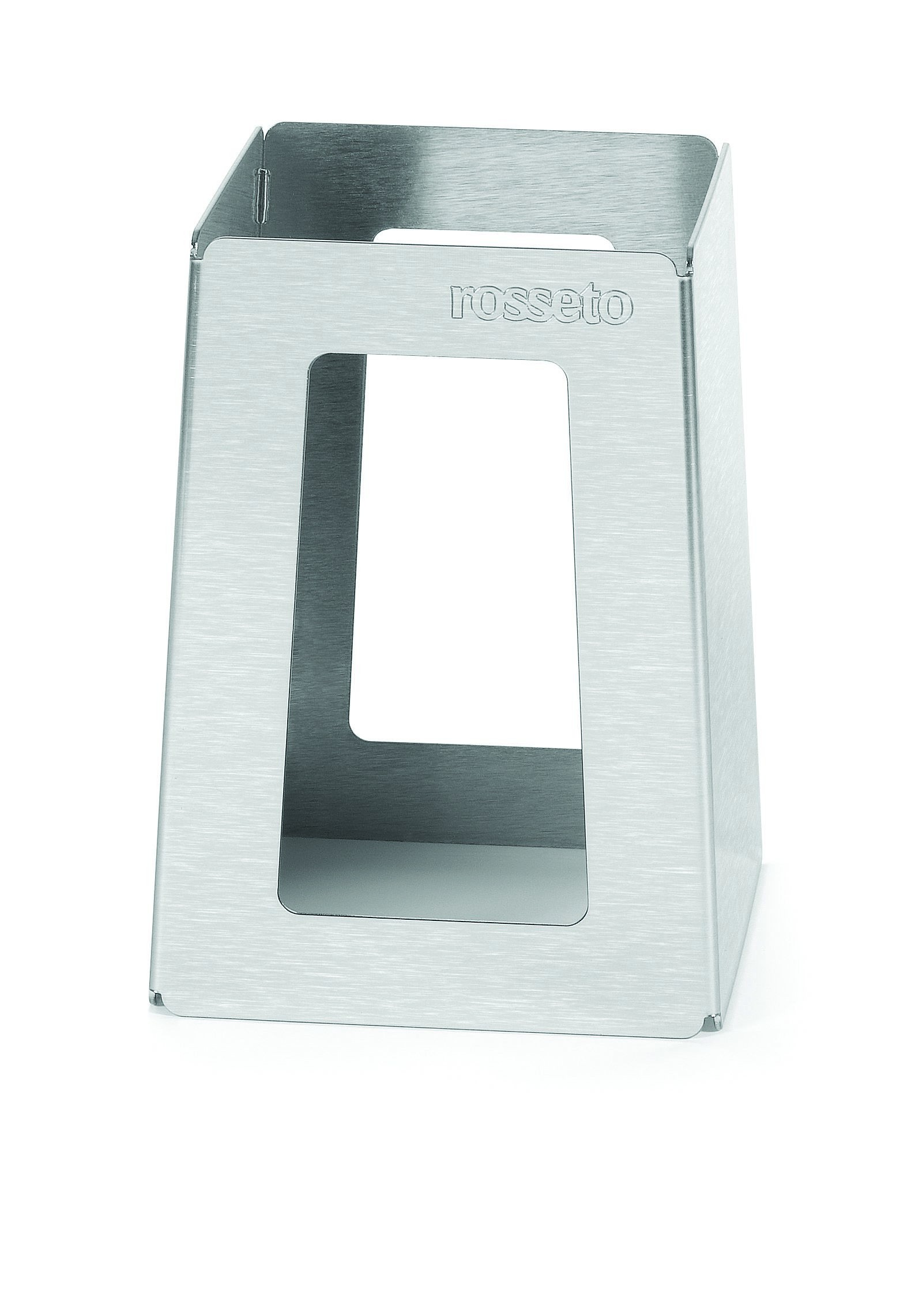 "Rosseto SM150 Stainless Steel Brushed Finish Pyramid Riser 5"" x 5"" x 7""H"