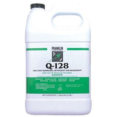 Q-128 Germicidal Detergent, Pine Forest Scent, Liquid, 1 gal. Bottle