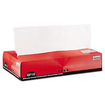 QF10 Interfolded Dry Wax Paper, 10 x 10 1/4, White, 500/Box, 12 Boxes/Carton
