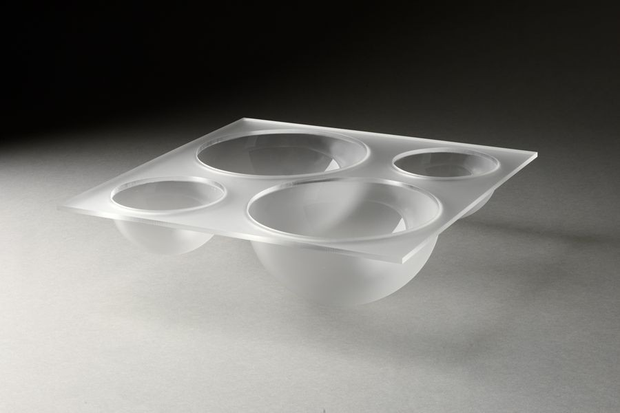 Rosseto LQT1340 Frosted Large Four-Bowl Tray For Mod Pod