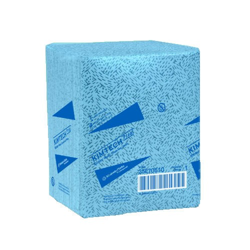 Kimtech Industrial Prep Quarterfold Wipers, Blue, 8 Boxes/Carton
