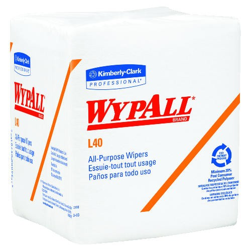 Quarter Fold Wipes, 12.5 X 14.4, White