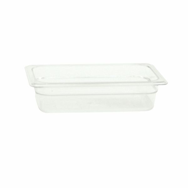 "Thunder Group PLPA8142 Quarter Size 2-1/2"" Deep Plastic Food Pan"