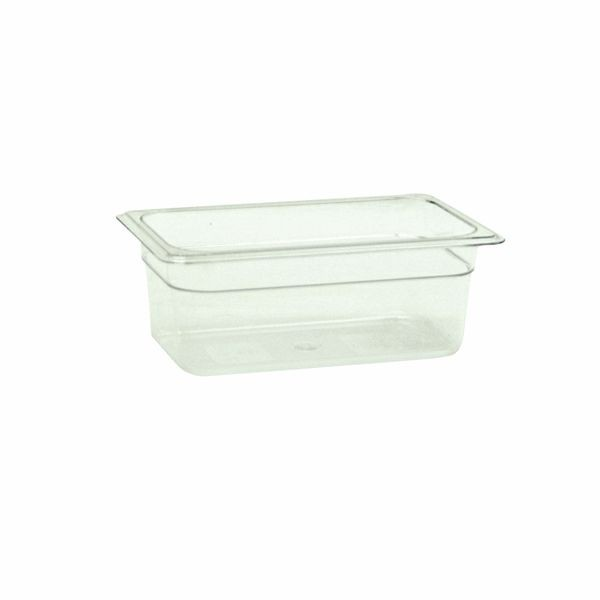 "Thunder Group PLPA8144 Quarter Size 4"" Deep Plastic Food Pan"