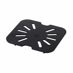 Quarter Size Polycarbonate Drain Shelves, Black