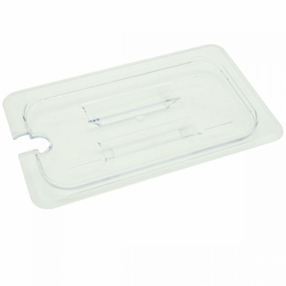 Quarter Size Slotted Cover For Polycarbonate Food Pan