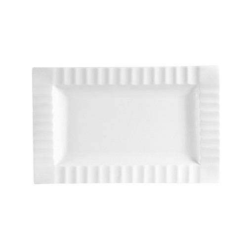 QueenSquare Rectangular Platter W. Stripe 10