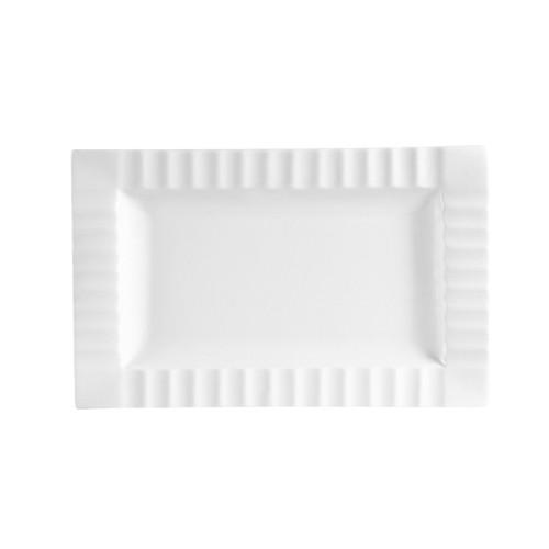"""CAC China QE-12 Queensquare Rectangular Platter, 10"""" x 6 1/4"""""""