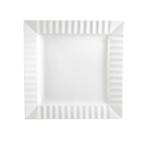 QueenSquare Square Plate W. Stripe8 1/4