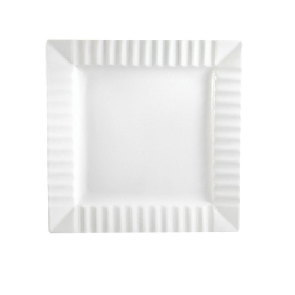 QueenSquare Square Plate W. Stripe 10.25 X 1