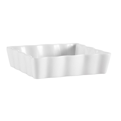"""CAC China QCD-SQ6 Square Fluted Quiche Dish, 6"""""""