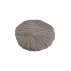 Radial Steel Wool Pads, Grade 1 (Med): Cleaning & Dry Scrubbing, 18 in Dia, Gray
