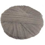 Radial Steel Wool Pads, Grade 3 (Very Coarse), 20 in Dia, Gray