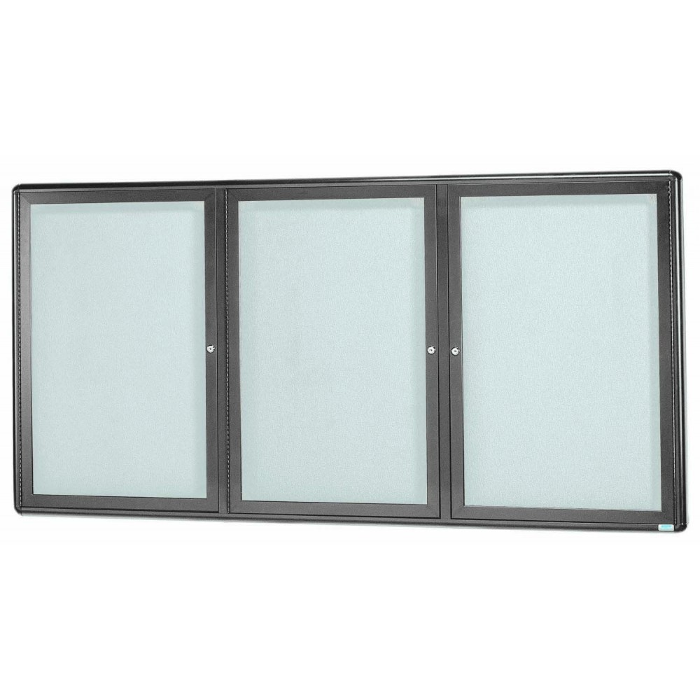 Radius Enclosed 2-Door Bulletin Board - Grey/grey - 36