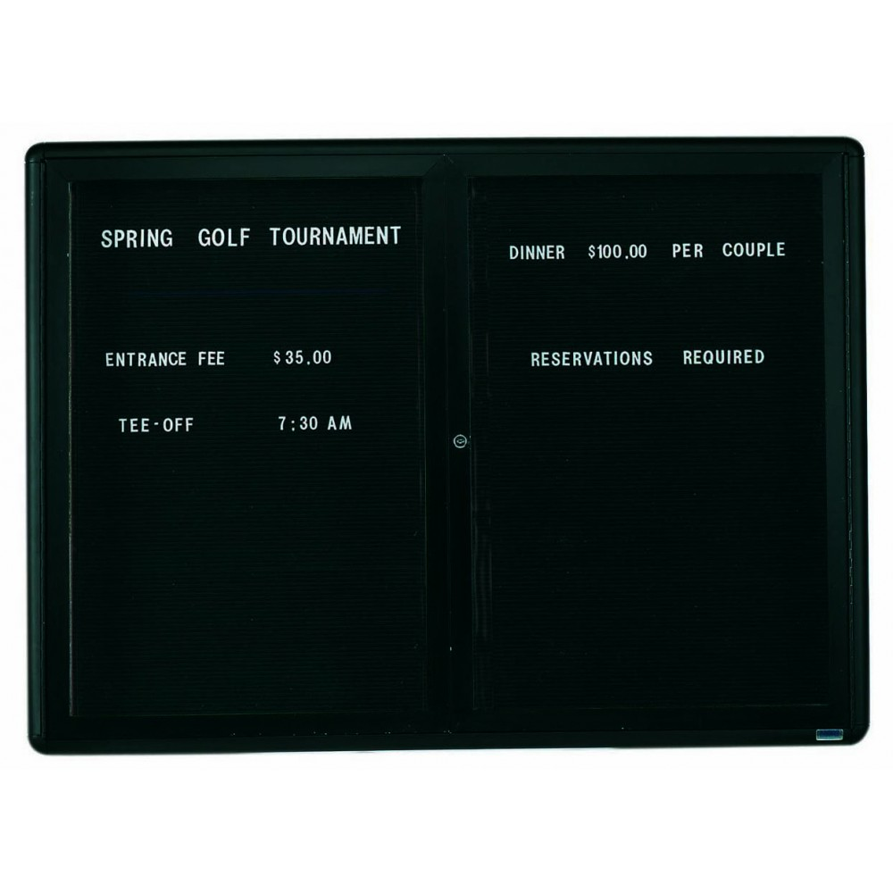 Radius Enclosed 2-Door Directory Board - Graphite/black - 36