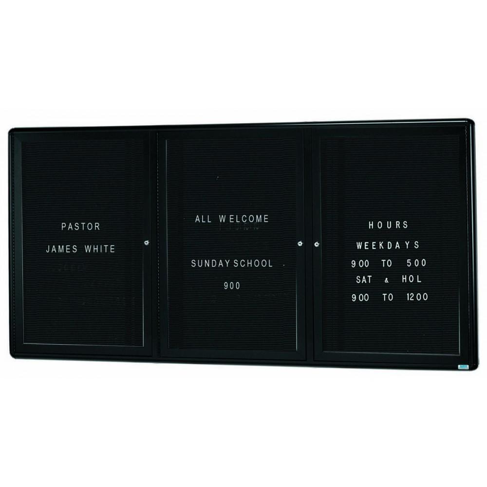 Radius Enclosed 2-Door Directory Board - Graphite/black - 36