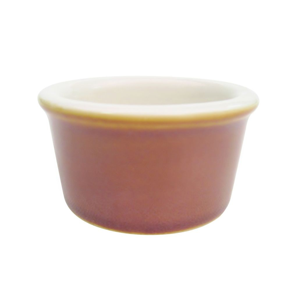 CAC China rkf-25-BWN Brown Fluted Ramekin 2.5 oz.