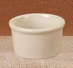 CAC China RKF-5-AW American White (Ivory) Smooth China Ramekin 5 oz.