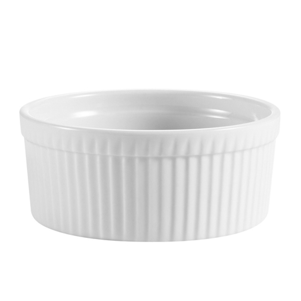 CAC China RKF-8 White Fluted Ramekin 8 oz.