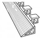 Franklin Machine Products  280-1050 Ramp, Floor Mat (58.5, Blk, Hd)