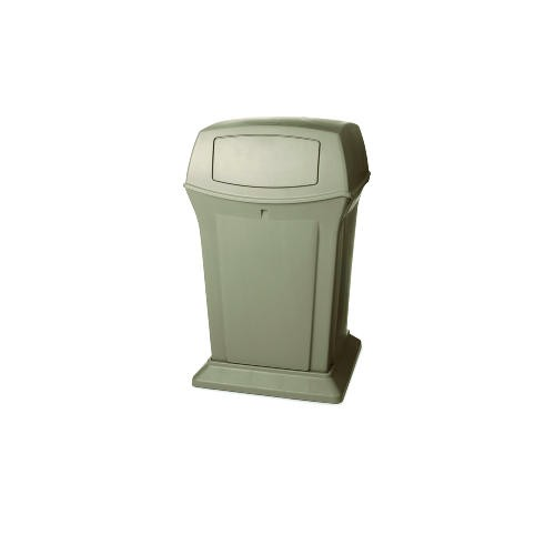 Ranger Trash Container with 2 Doors, 45 Gallon, Beige