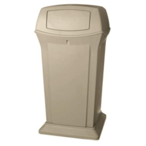 Ranger Trash Receptacle with 2 Doors, 65 Gallon, Beige