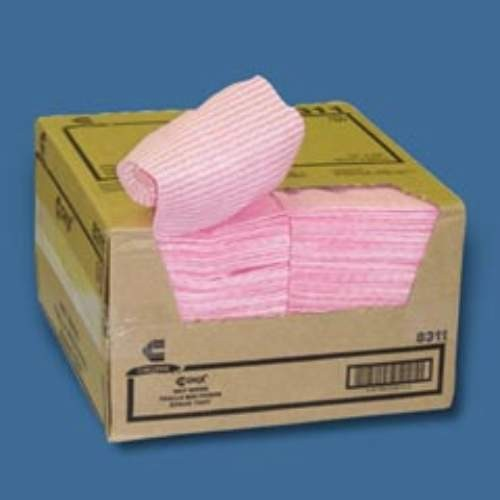 Rayon Wet Wipes, 5 X 24, Pink Stripe