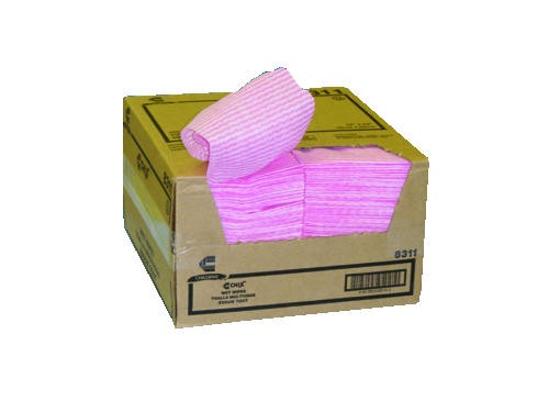 Rayon Wet Wipes, 5 X 24, Pink Diamond Pattern