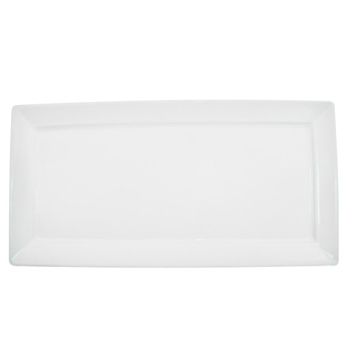 "CAC China F-RP12 Paris-French Thin Rectangular Platter, 12""x 6"""