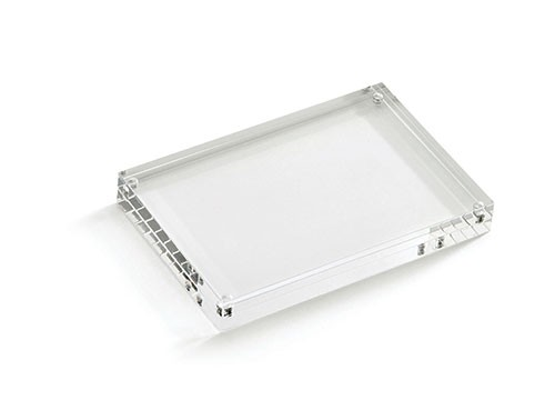 "TableCraft ACH46 Rectangular Acrylic Card Holder, 4"" x 4"" x 6"""