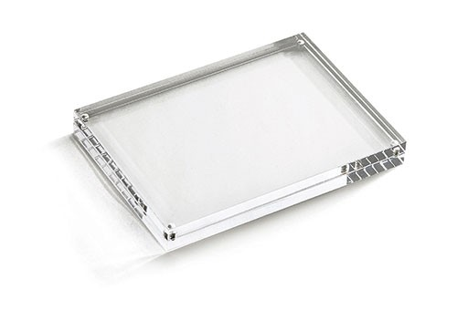 "Rectangular Acrylic Card Holder, 5"" x 5"" x 7"""