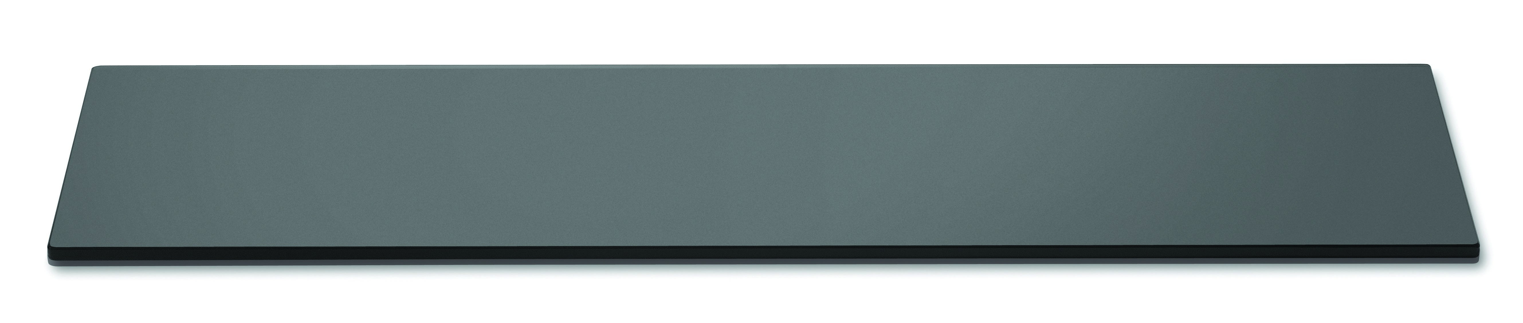 "Rosseto SG015 Narrow Rectangular Black Acrylic Surface 33.5"" x 7.75"""