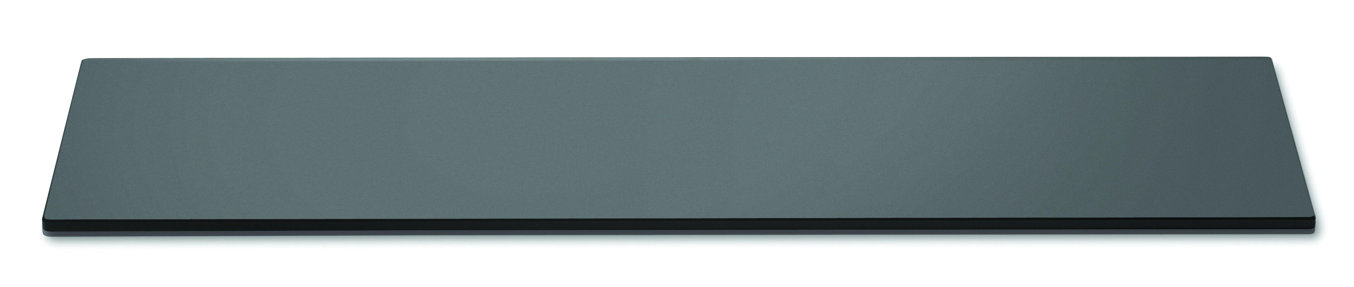 "Rosseto SG015 Narrow Rectangular Black Acrylic Surface 33.5"" x 7.75"""