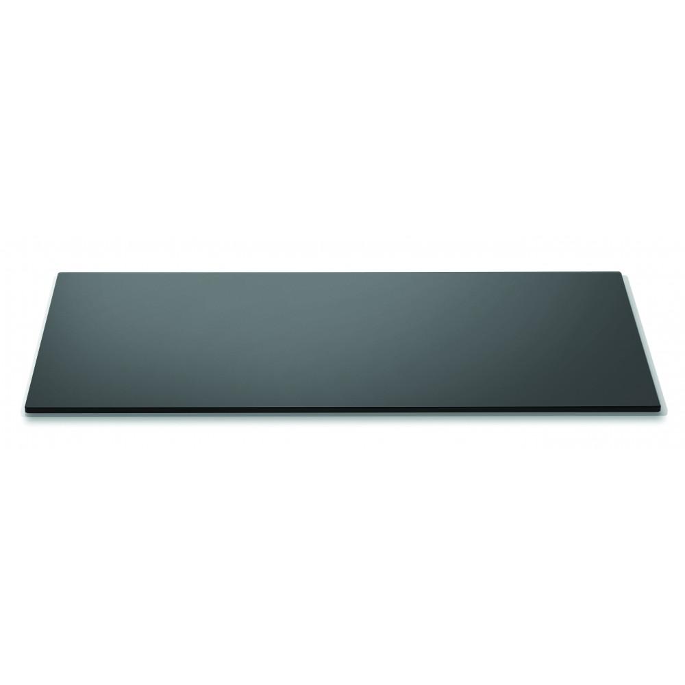 "Rosseto SG003 Wide Rectangular Black Tempered Glass Surface 33.5"" x 14"""