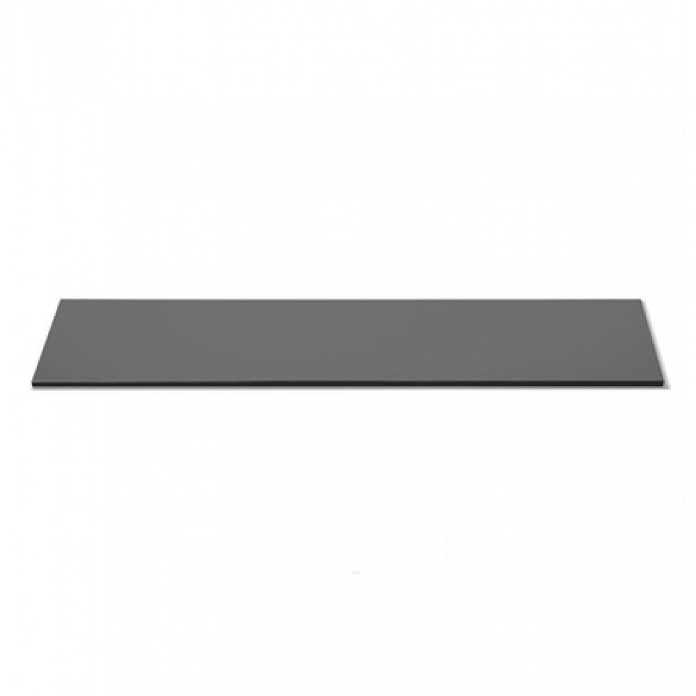 "Rosseto SG002 Narrow Rectangular Black Tempered Glass Surface 33.5"" x 7.75"""
