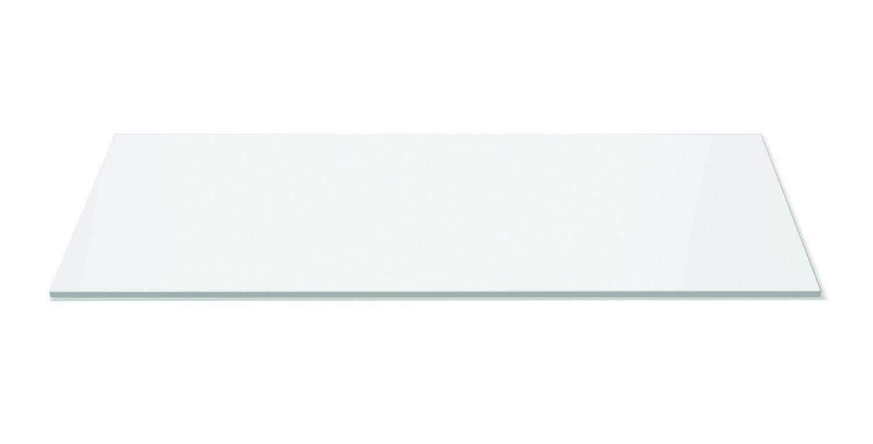 "Rosseto SG019 Wide Rectangular Black Acrylic Surface 33.5"" x 14"""