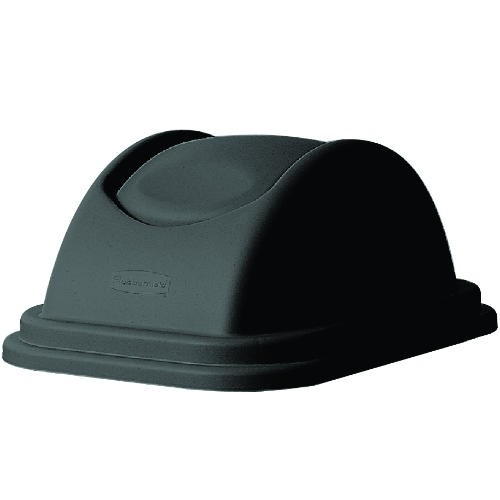 Rectangular Free-Swinging Plastic Garbage Can Lids, Black