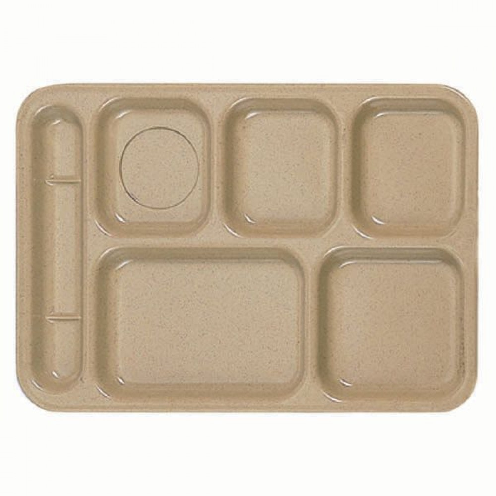 Rectangular Left-Handed 6-Compartment Tray - 10