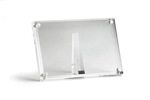 TableCraft A362 Acrylic Rectangular Magnetic Card/Sign Holder