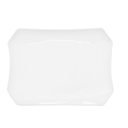 "CAC China RCN-H12 Clinton Rolled Edge Rectangular Platter, 10 1/2""x 7 3/4""x 1 1/4"""