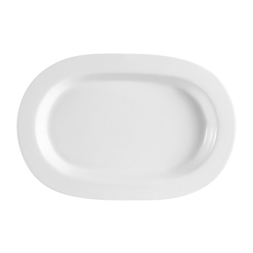 "CAC China RCN-94 Clinton Rolled Edge Rectangular Platter, 14"" x 9 1/4"" x 1 1/4"""