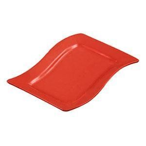 "CAC China SOH-14R Soho Color Red Rectangular Platter, 13 1/2""x 8 7/8"""