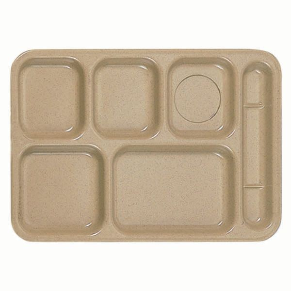 "Thunder Group ML802S Rectangular Right-Handed 6-Compartment Tray 10"" x 14"""