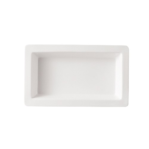 "CAC China TSP-16 White Rectangular Tray 10"" x 6"""