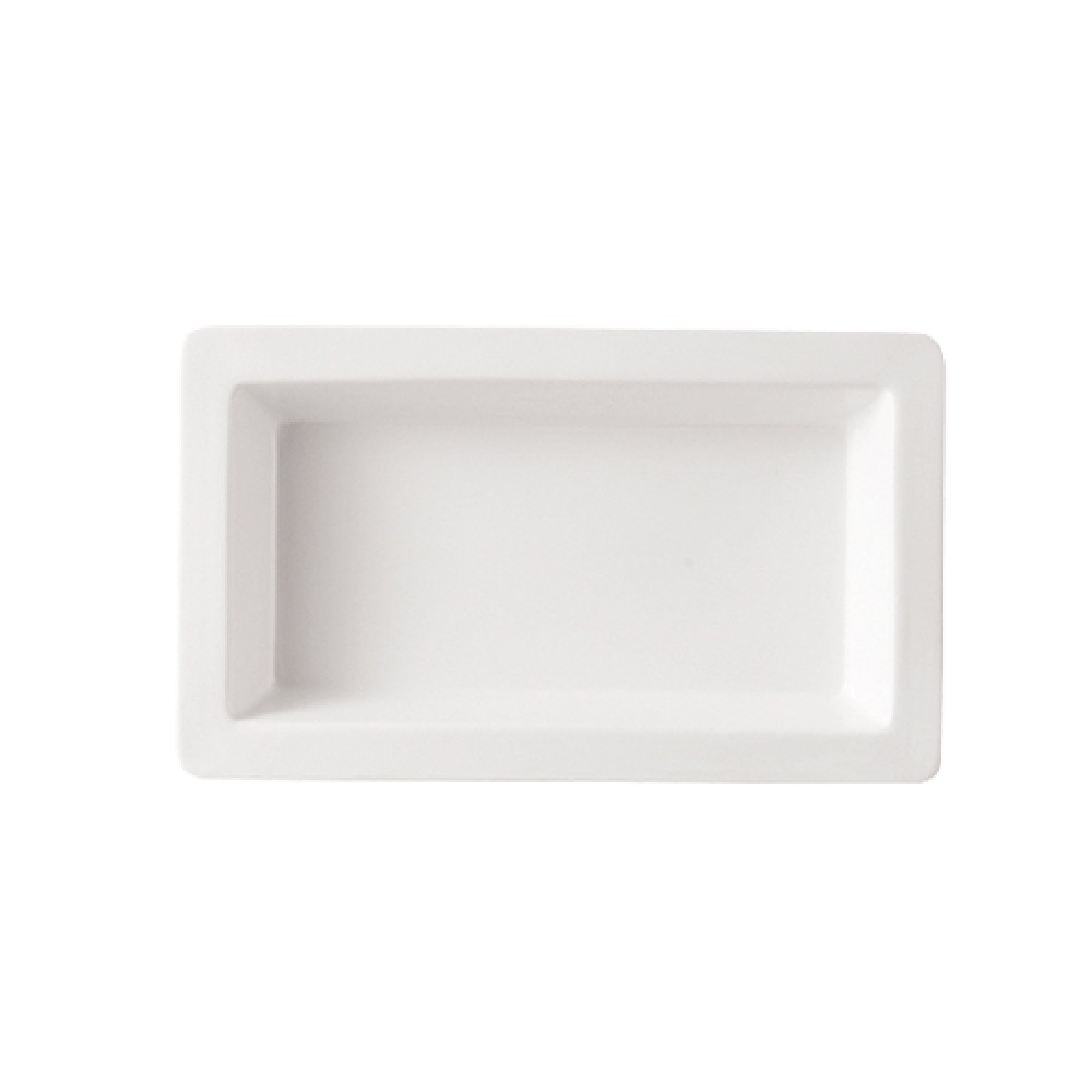 "CAC China TSP-21 White Rectangular Tray 12"" x 7"""