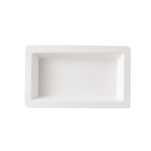 """CAC China TSP-41 White Rectangular Tray 14"""" x 8-1/2"""""""