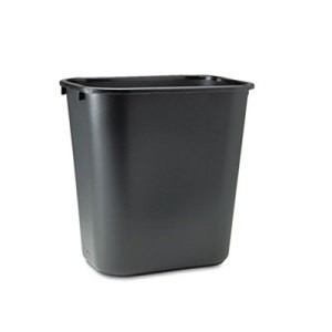 Rectangular Wastebasket, Medium, Black