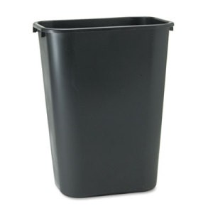 Rectangular Wastebasket Large, Black